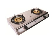 Milux Stainless Steel Double Burner Gas Stove MS3399