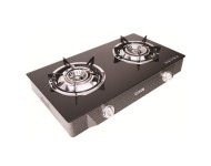 Milux Glass Top Double Burner Gas Stove MSG6600