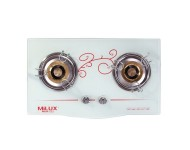Milux Glass Double Burner Gas Stove MGH222