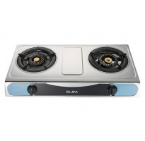 Elba Stainless Steel Double Burner Gas Stove EGS-F7112