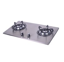 Khind Stainless Steel Double Burner Gas Stove HB802S