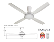 Panasonic 4blades Ceiling Fan with Remote Control F-M14C5