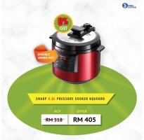 Sharp 6L Pressure Cooker KQ-A60RD