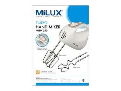 Milux Turbo Hand Mixer MHM250