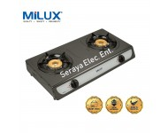 YS-023 Milux Double Burner Epoxy Body Gas Cooker