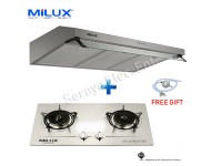 Milux Kitchen Hood and Built-In Hob Set (Twin Package B)