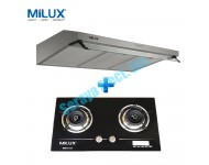 Milux Kitchen Hood and Built-In Hob Set (Twin Package A)