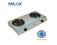 MSS-1022 Milux Double Tornado Burner Stainless Steel Gas Cooker