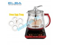 EHP-G1583G(RD) Elba 1.5L HEALTH POT With Removable Stainless Steel Strainer EHP-G1583G
