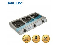 MSS-1033 Milux Triple Tornado Burner Stainless Steel Gas Cooker