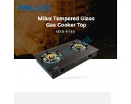 Milux Tempered Glass Cooker Top Gas Cooker MSG-6160