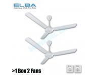 "ELBA ECF-G6011(WH) 60"" CEILING FAN (WHITE) 2 Units"