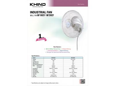 """Khind 20"""" Industrial Wall Fan WF2002"""