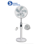 "Elba 16"" Remote Control Stand Fan (DC Motor) ESF-E1637DC(WH)"