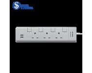 Khind 3 Ways Trailing Socket with USB Port LN8354U